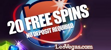 120 Free Spins and £1,600 Welcome Cash Bonus at LeoVegas