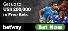 Betway Sports betting in Uganda and bonus