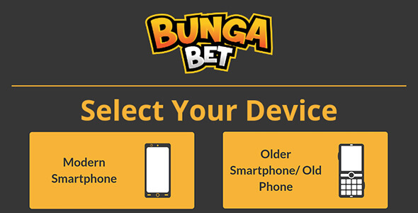 BungaBet mobile choice