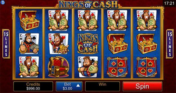 Kings of Cash Mobile slot machine