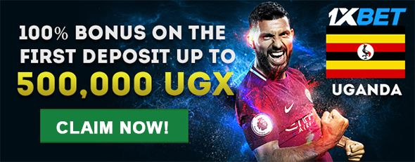 1xBet Uganda first deposit bonus up to 500,000 UGX