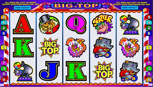 Big Top Slot Machine powered by Microgaming