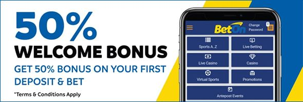 BetOn Welcome Bonus 50% in Free Bets
